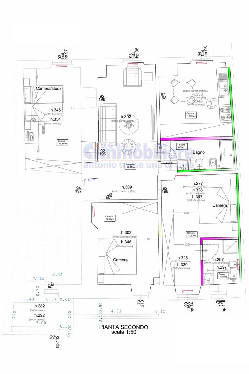 pistoia centro appartamento ristrutturato completamente planimetria