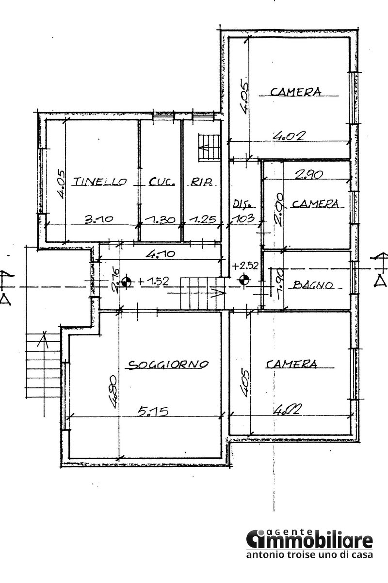 cantagrillo vendesi casa libera 4 lati 7